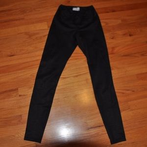 Wilfred Free Black Suede Leggings